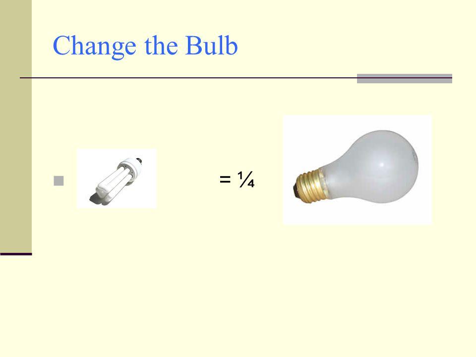 Change the Bulb = ¼