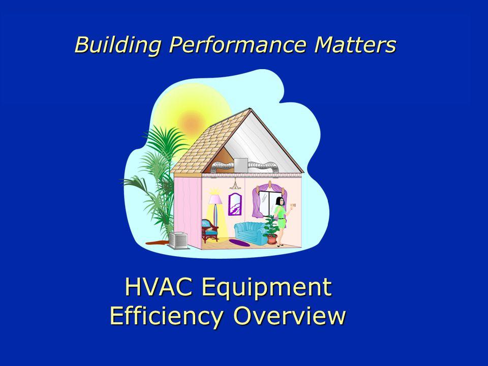 HVAC Equipment Efficiency Overview Building Performance Matters