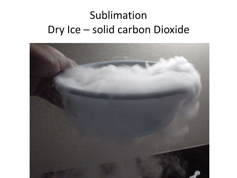 Sublimation Dry Ice – solid carbon Dioxide