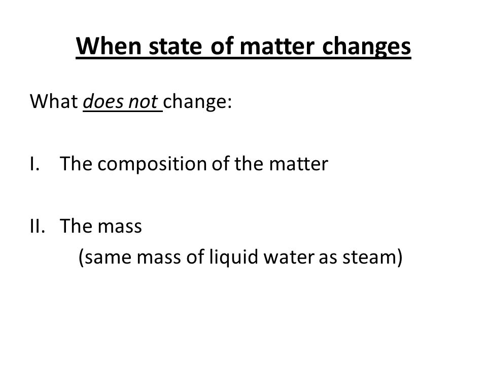 Changes of State Triangle When State of Matter Changes