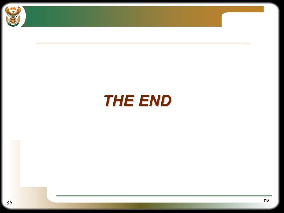 36 DV THE END