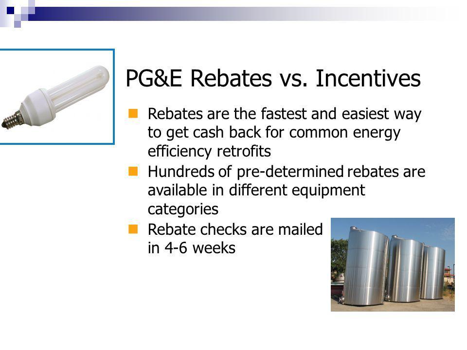 PG&E Rebates vs.