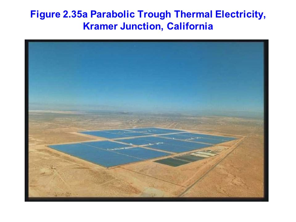 Figure 2.35a Parabolic Trough Thermal Electricity, Kramer Junction, California