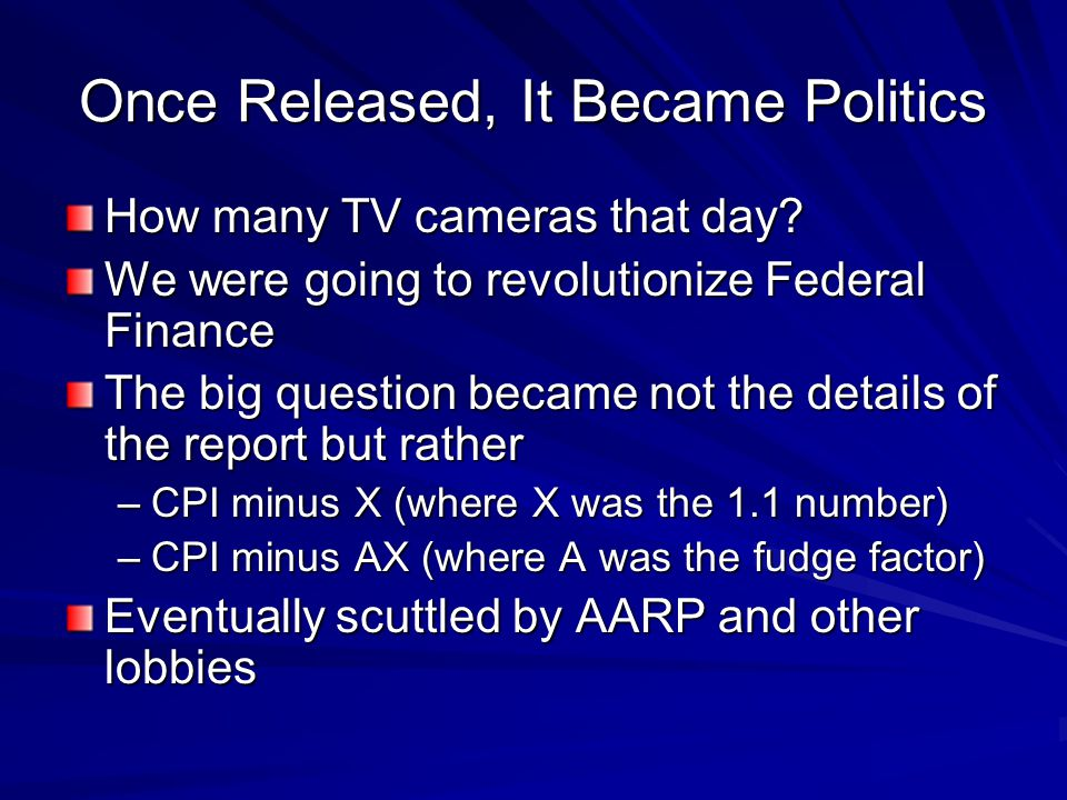 Once Released, It Became Politics How many TV cameras that day.