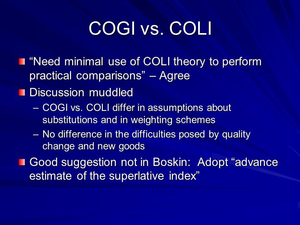 COGI vs.
