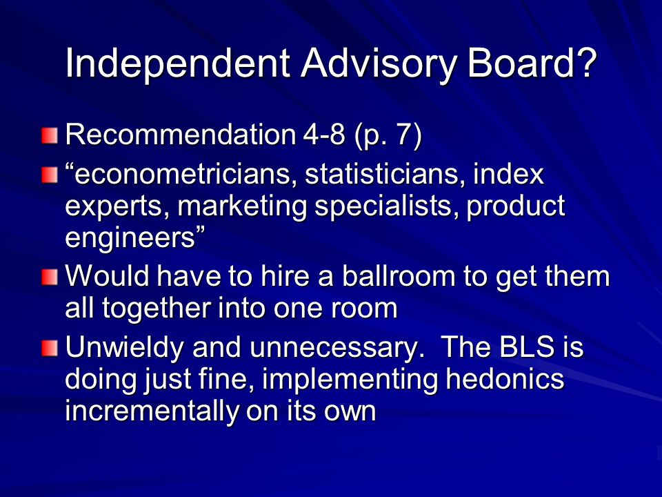 Independent Advisory Board. Recommendation 4-8 (p.