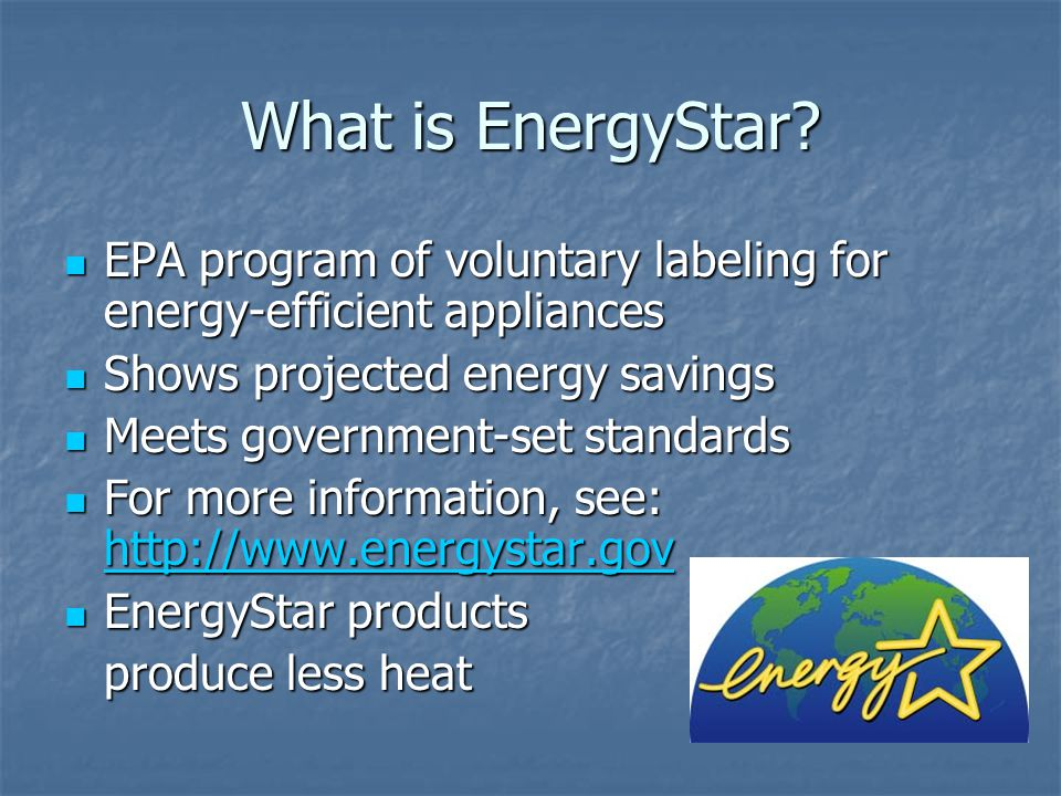 What is EnergyStar.