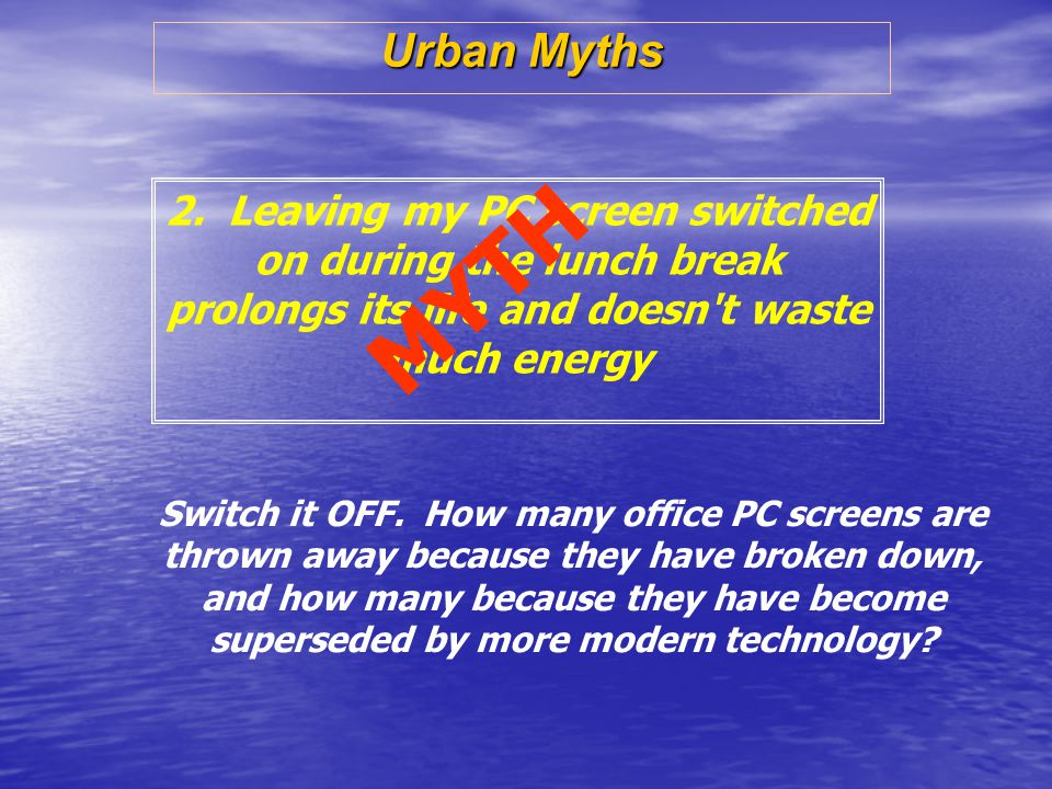 Urban Myths 2.