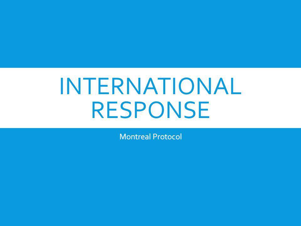 INTERNATIONAL RESPONSE Montreal Protocol
