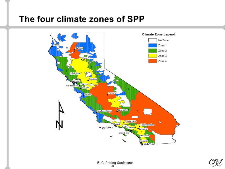 20 EUCI Pricing Conference The four climate zones of SPP