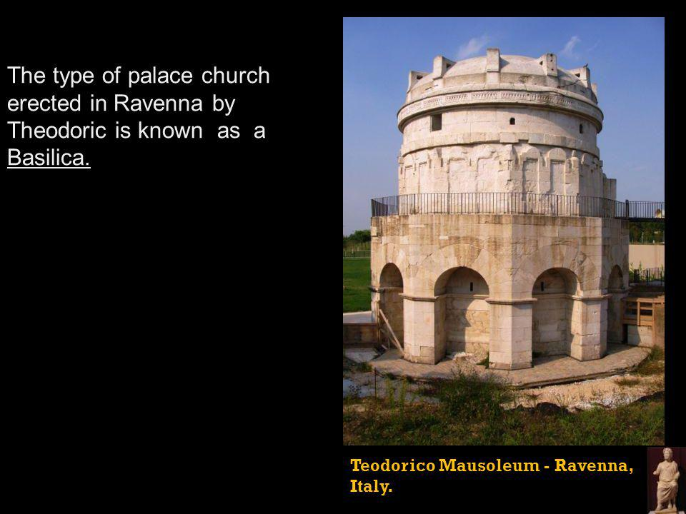Teodorico Mausoleum - Ravenna, Italy. The type of palace church erected in Ravenna by Theodoric is known as a Basilica.