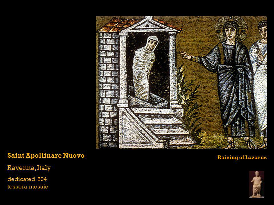 Saint Apollinare Nuovo Ravenna, Italy dedicated 504 tessera mosaic Raising of Lazarus