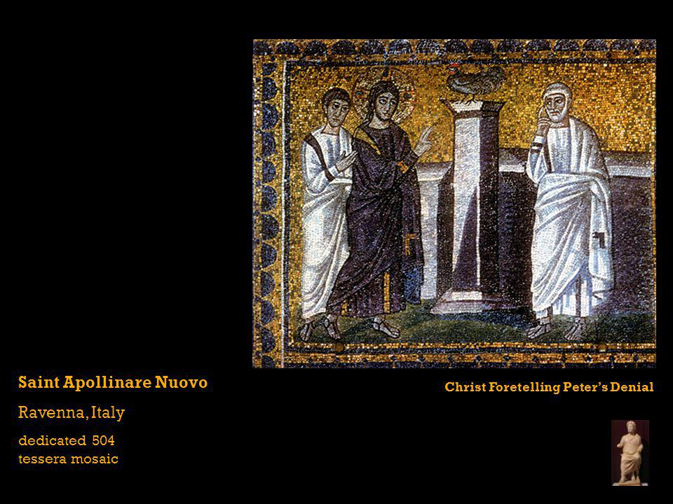 Saint Apollinare Nuovo Ravenna, Italy dedicated 504 tessera mosaic Christ Foretelling Peters Denial