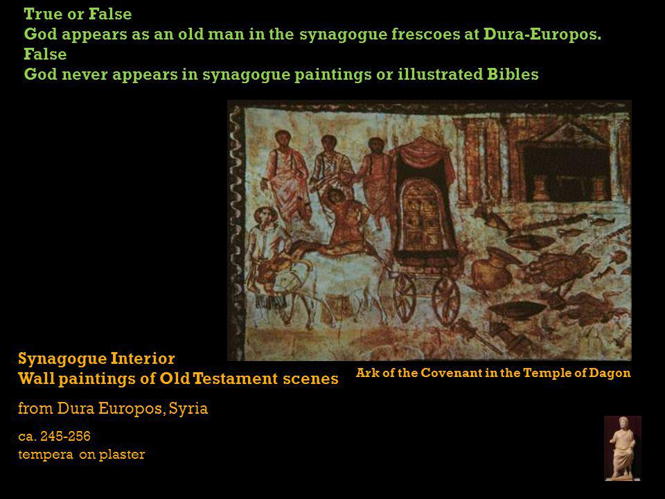 Synagogue Interior Wall paintings of Old Testament scenes from Dura Europos, Syria ca.