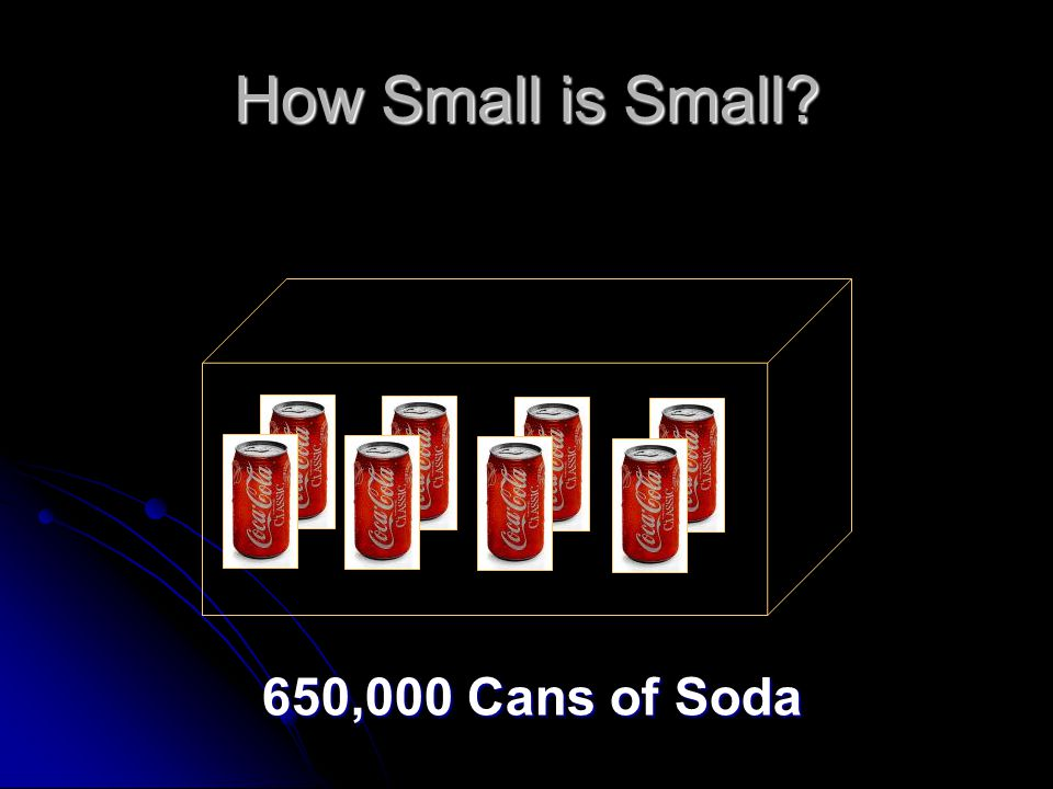 How Small is Small? 650,000 Cans of Soda