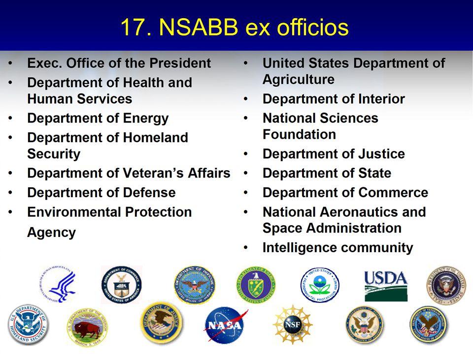 17. NSABB ex officios