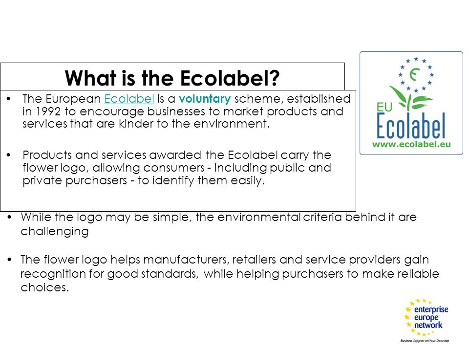 What is the Ecolabel.