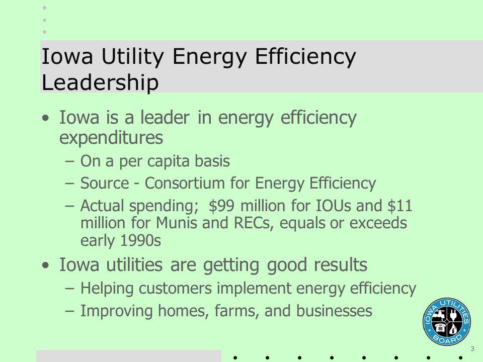 4 Energy Efficiency $ – Iowa a National Leader