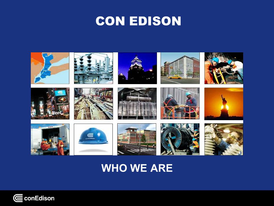 CON EDISON WHO WE ARE