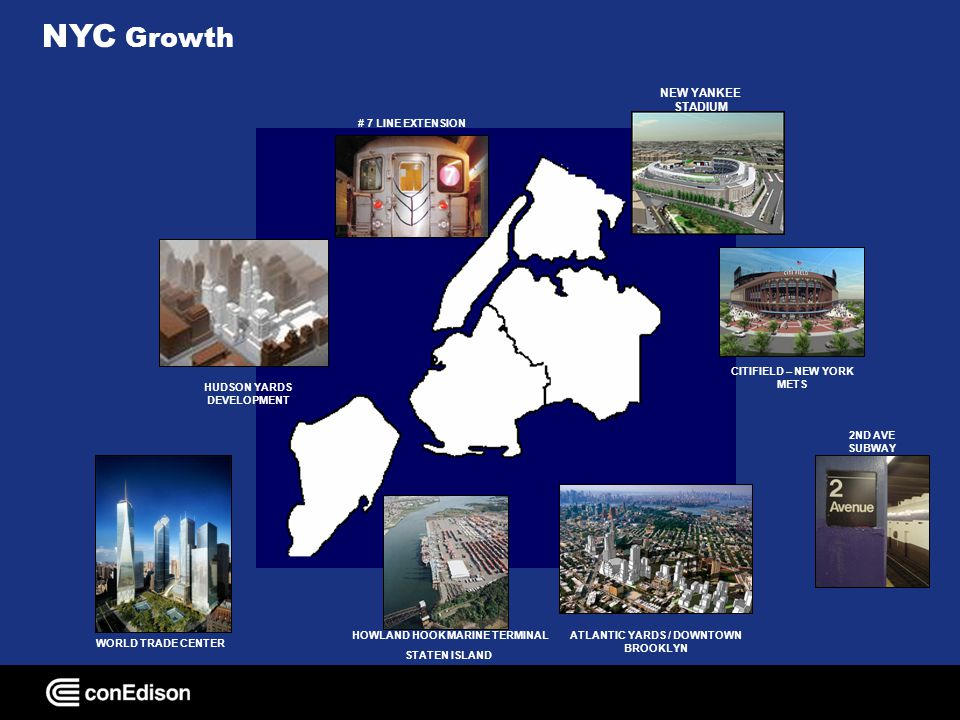 NYC Growth HUDSON YARDS DEVELOPMENT ATLANTIC YARDS / DOWNTOWN BROOKLYN CITIFIELD – NEW YORK METS WORLD TRADE CENTER 2ND AVE SUBWAY # 7 LINE EXTENSION
