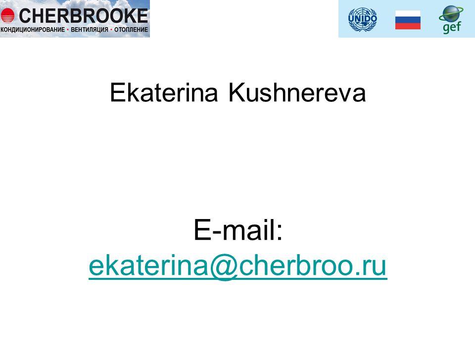 Ekaterina Kushnereva E-mail: ekaterina@cherbroo.ru ekaterina@cherbroo.ru
