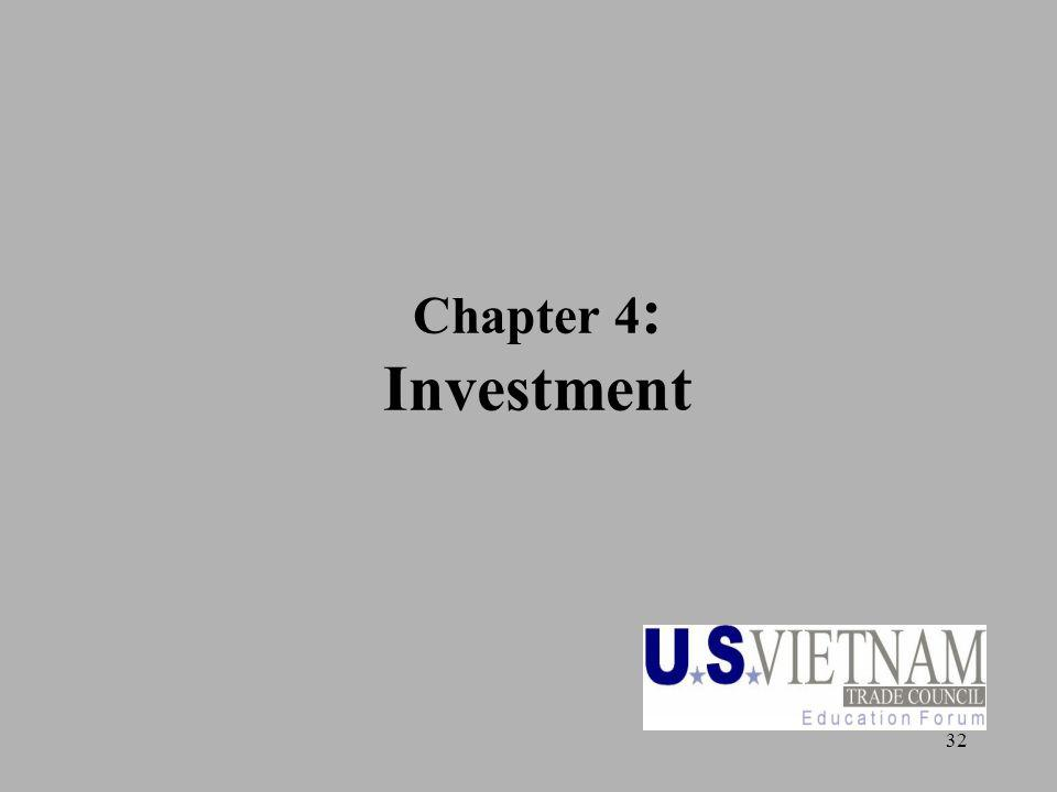 32 Chapter 4 : Investment