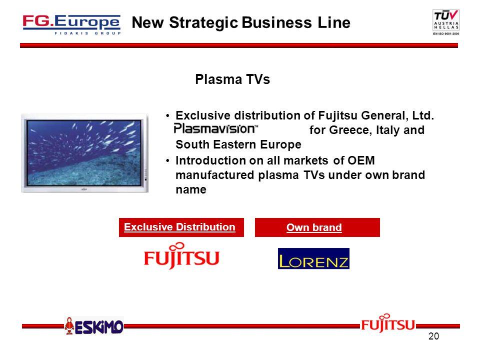 20 New Strategic Business Line Exclusive distribution of Fujitsu General, Ltd.