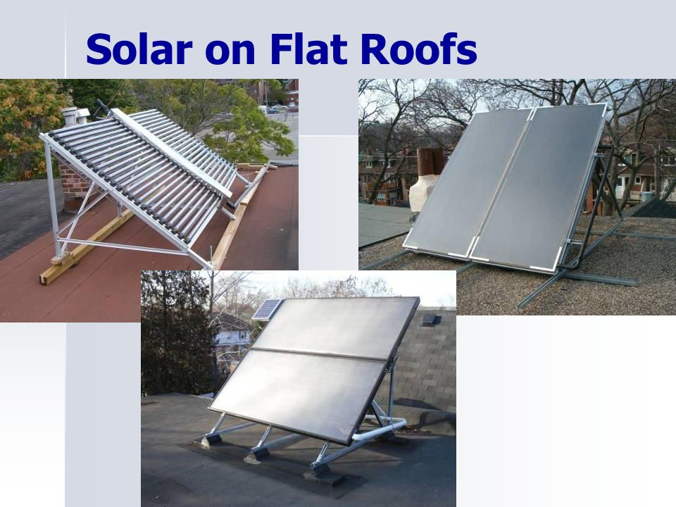 Solar on Flat Roofs