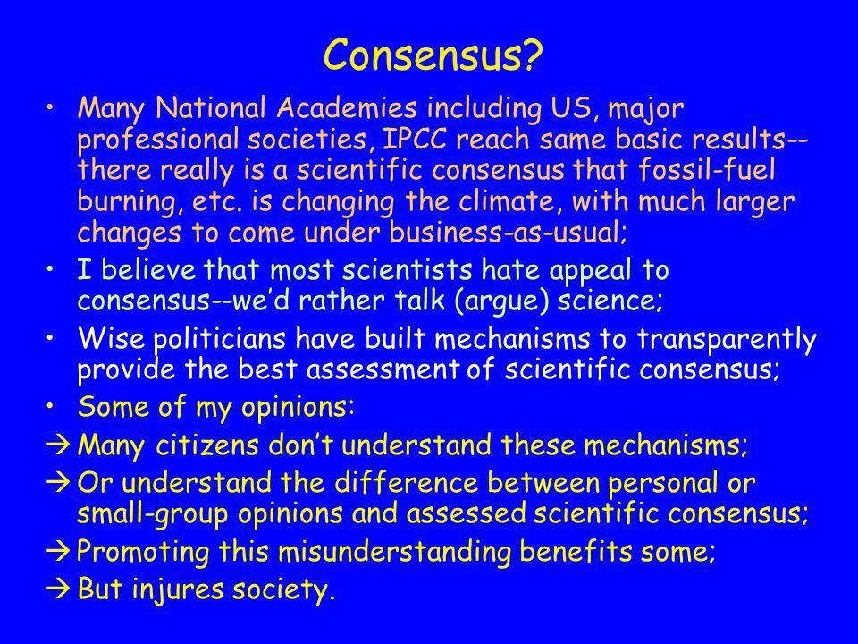 Consensus.