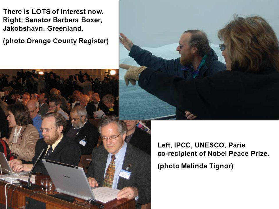 Left, IPCC, UNESCO, Paris co-recipient of Nobel Peace Prize.