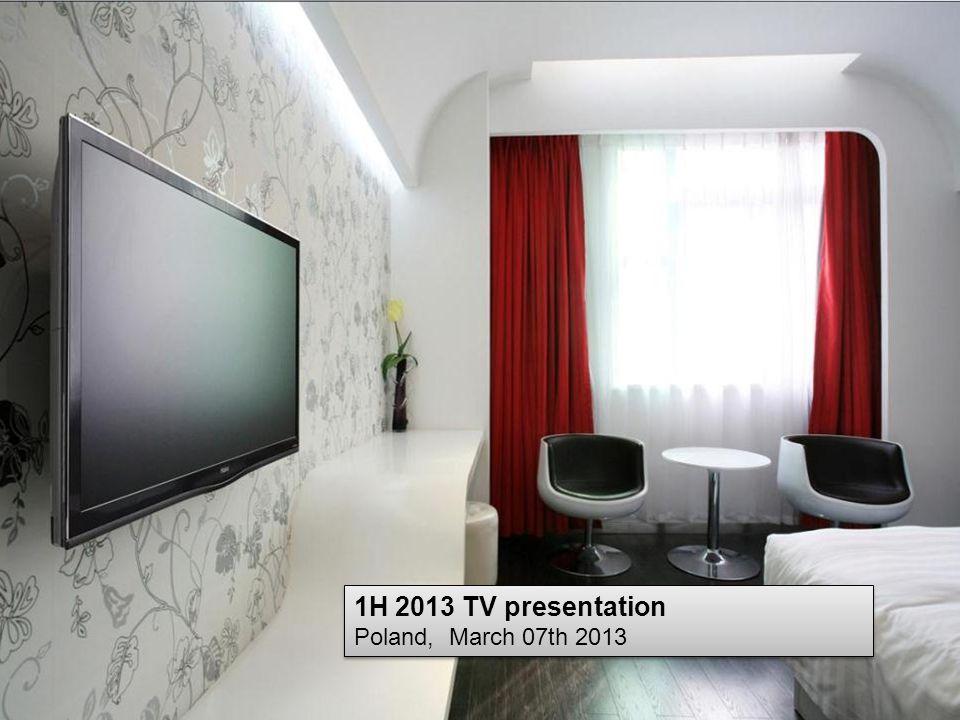 1H 2013 TV presentation Poland, March 07th 2013 1H 2013 TV presentation Poland, March 07th 2013