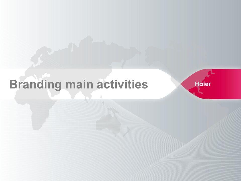 Branding main activities