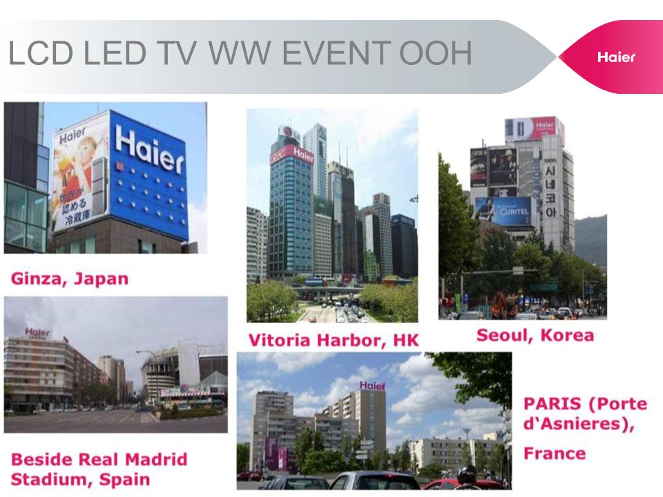 LCD LED TV WW EVENT OOH
