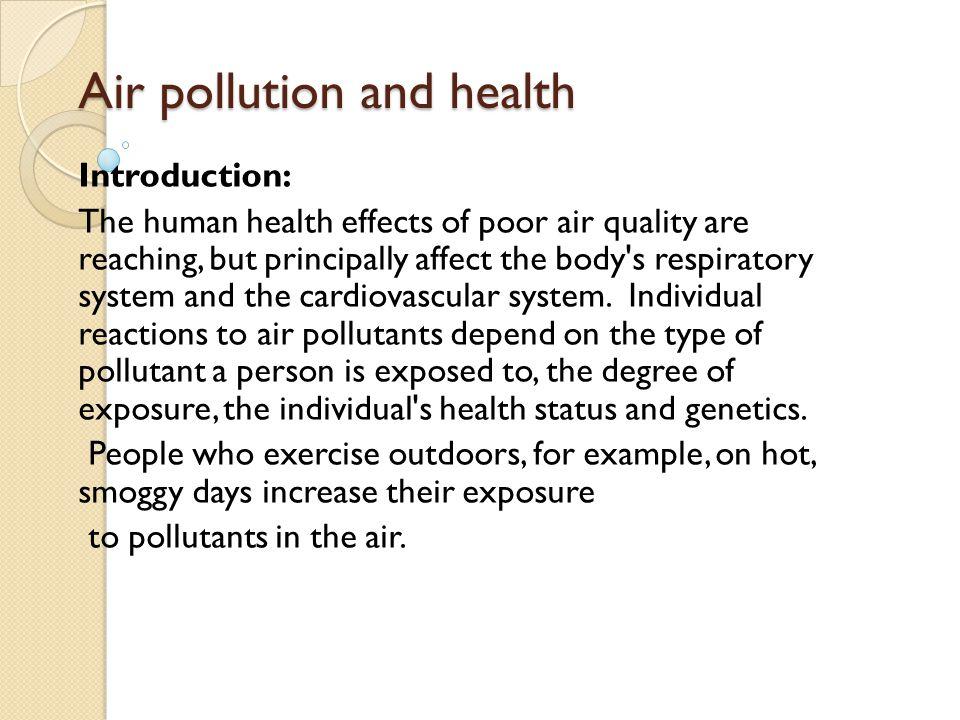 How to write an environmental health essay