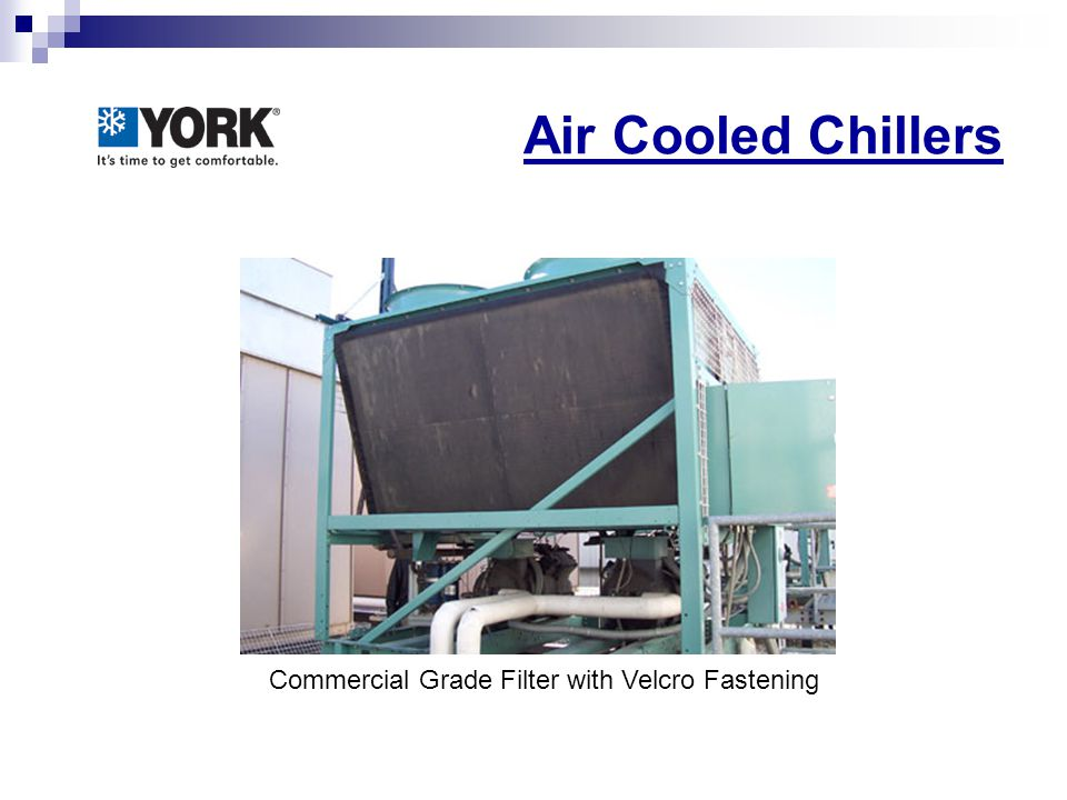Air Cooled Chillers Commercial Grade Filter with Velcro Fastening