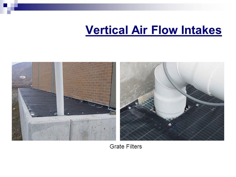 Vertical Air Flow Intakes Grate Filters
