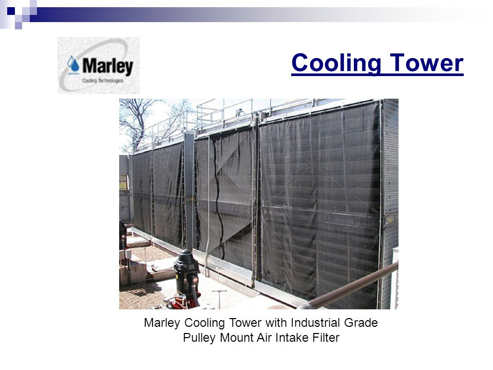 Cooling Tower Marley Cooling Tower with Industrial Grade Pulley Mount Air Intake Filter