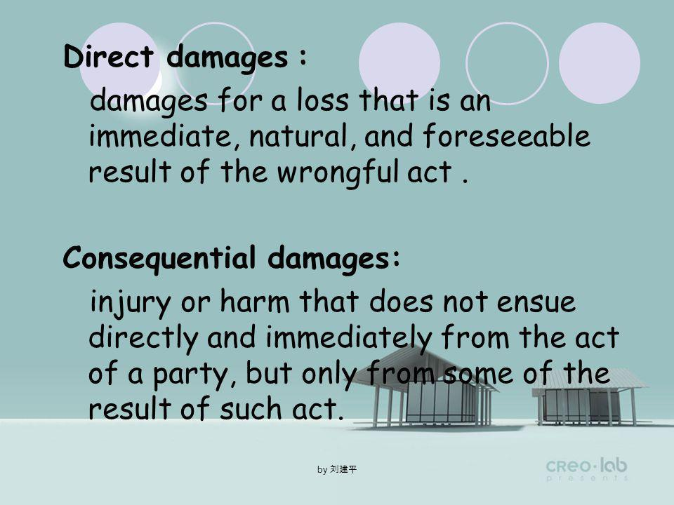 by Damages Direct damagesConsequential damages
