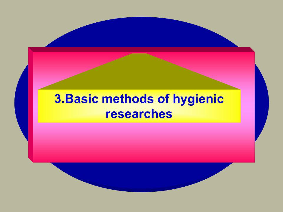 3.Basic methods of hygienic researches