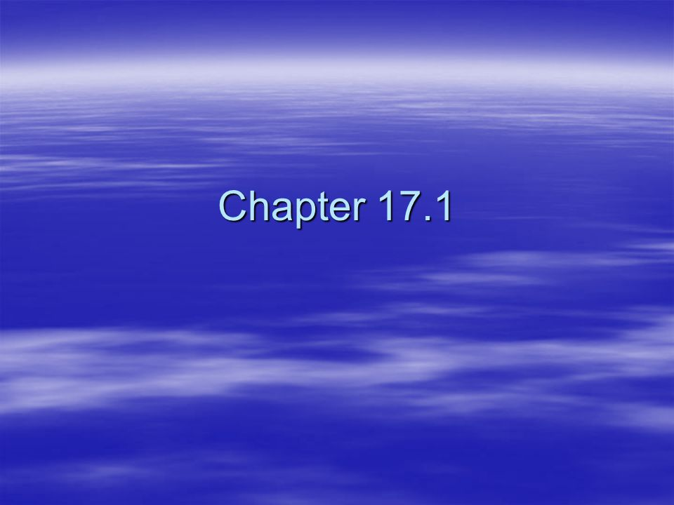 Chapter 17.1