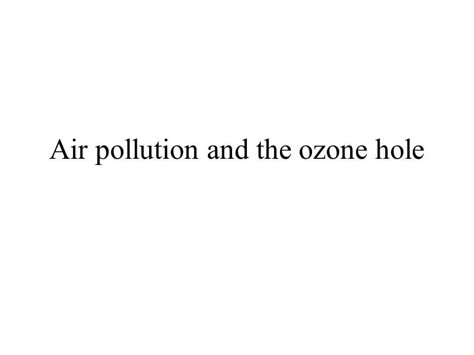 Air pollution and the ozone hole