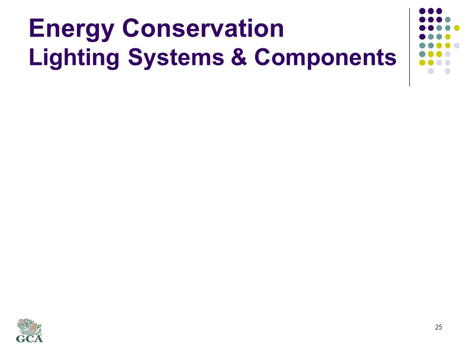 Energy Conservation Lighting Systems & Components 25