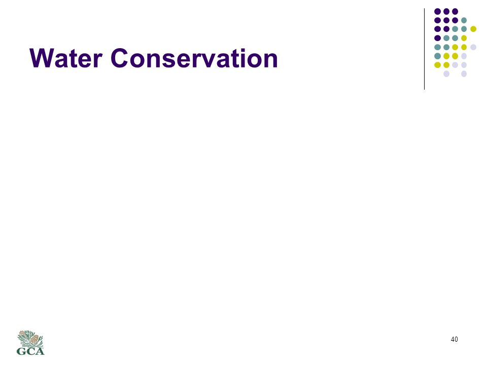 Water Conservation 40