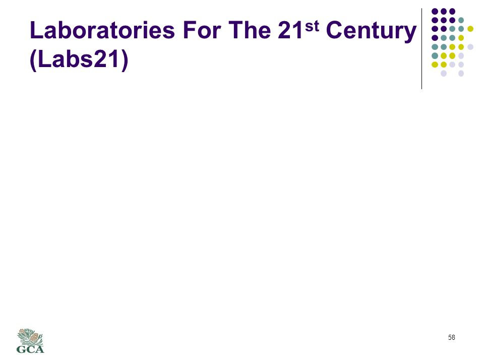 Laboratories For The 21 st Century (Labs21) 58