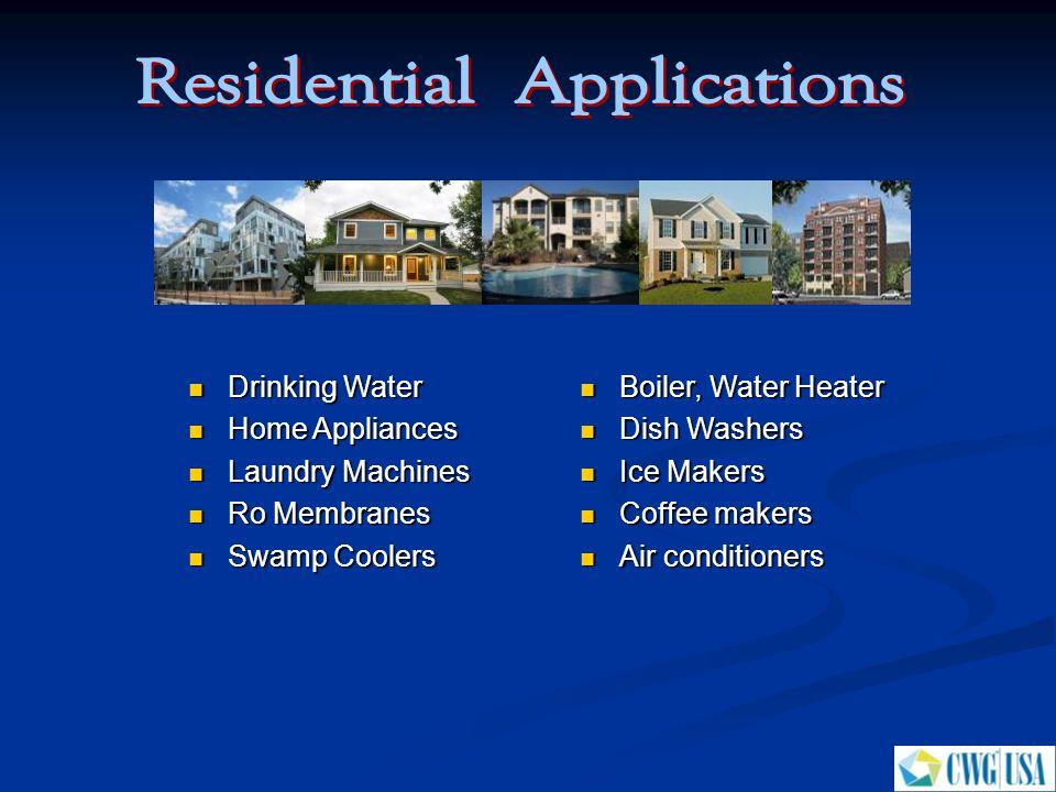 Boiler, Water Heater Boiler, Water Heater Dish Washers Dish Washers Ice Makers Ice Makers Coffee makers Coffee makers Air conditioners Air conditioner