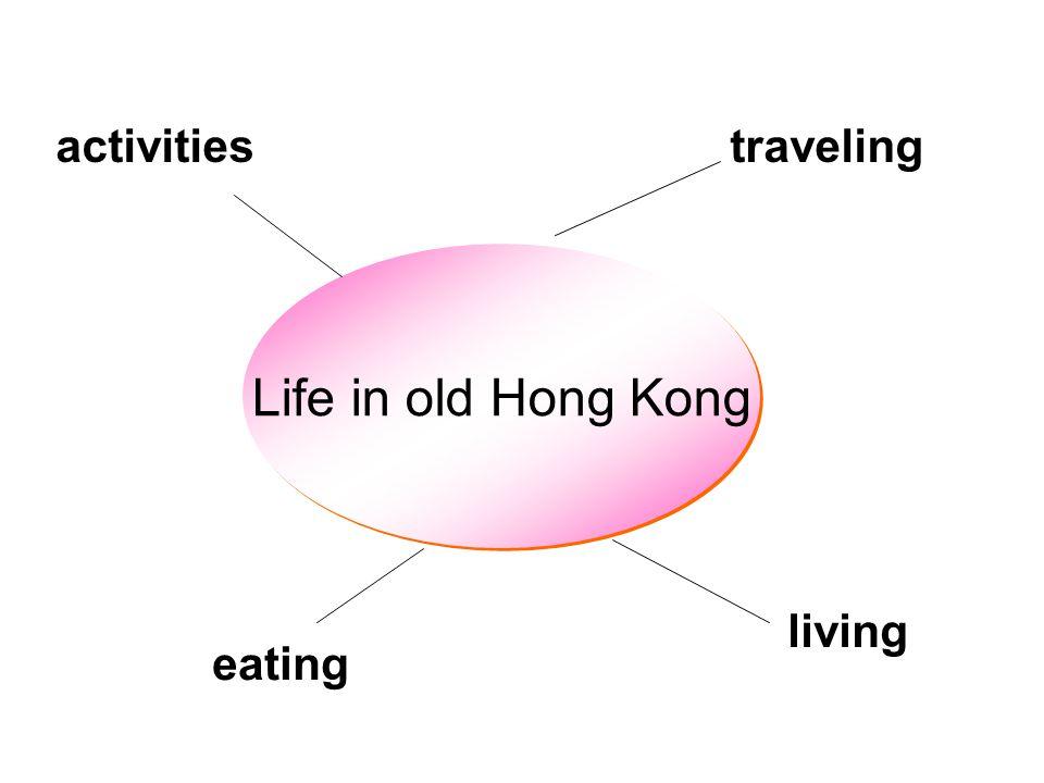 Life in old Hong Kong living eating travelingactivities