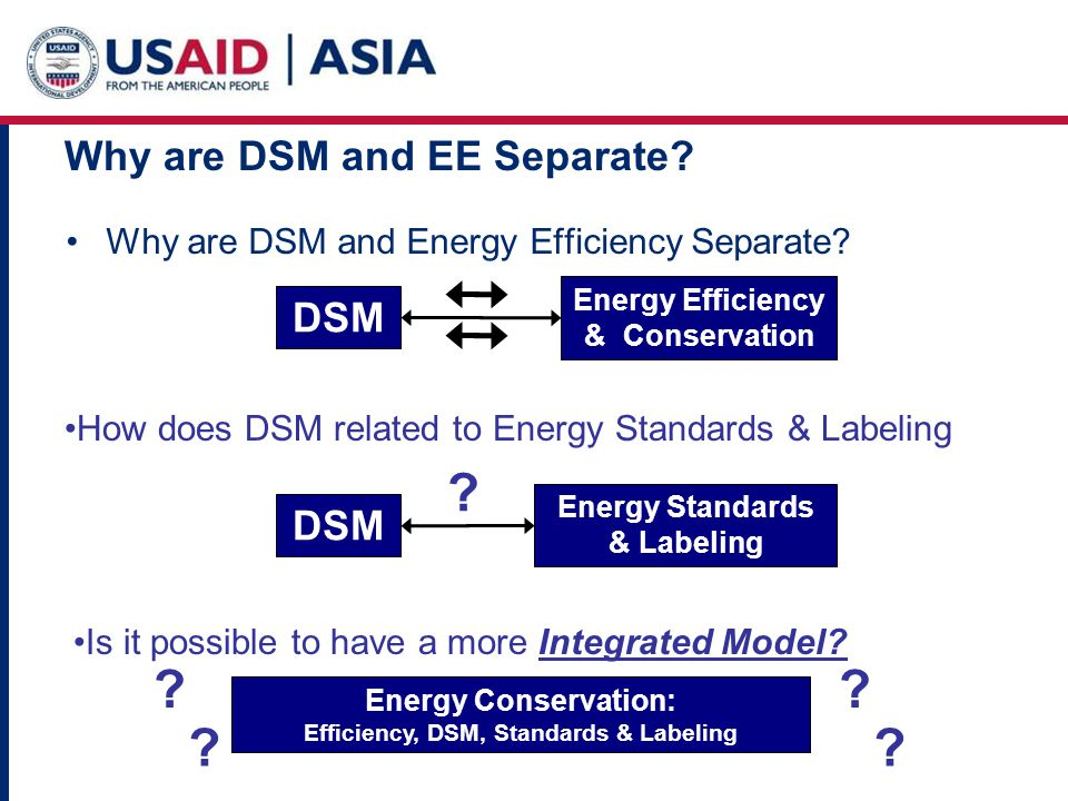 Why are DSM and EE Separate. Why are DSM and Energy Efficiency Separate.