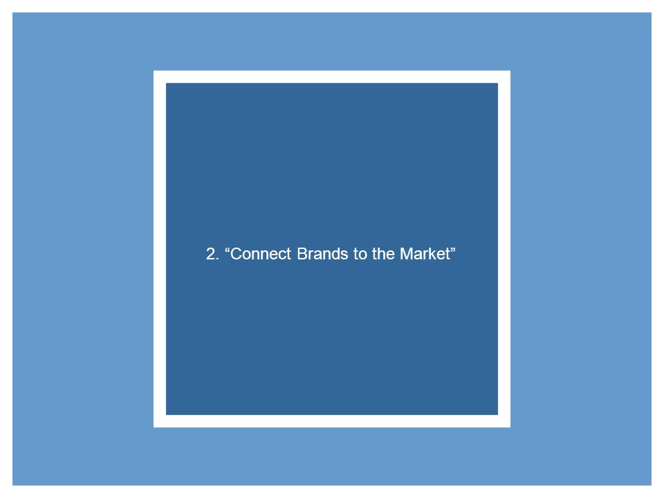 2. Connect Brands to the Market