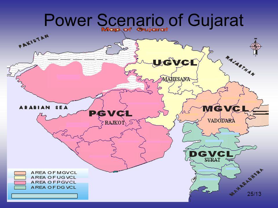 3-April, 2012 Capacity Building of CSOs by VIKSAT, Ahmedabad 25/13 Power Scenario of Gujarat