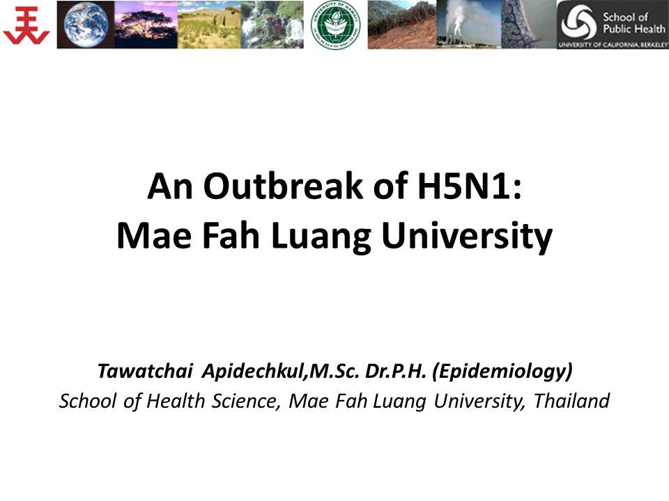 An Outbreak of H5N1: Mae Fah Luang University Tawatchai Apidechkul,M.Sc.